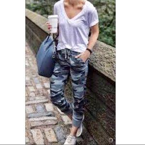 Pants - Grey Camouflage side pocket joggers